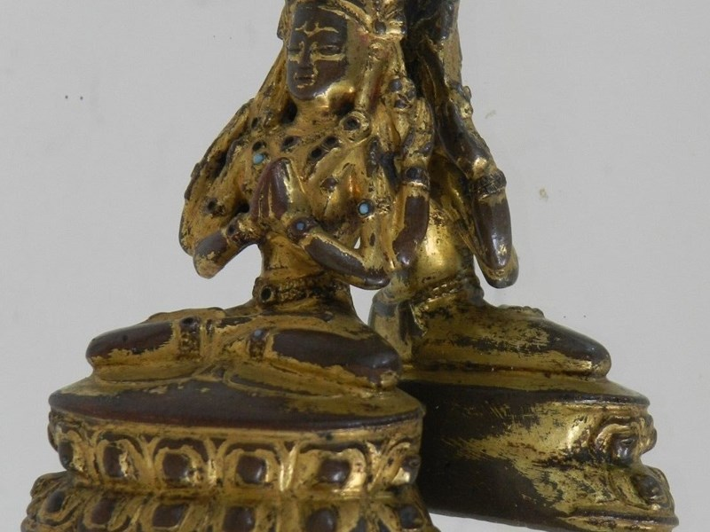 Extremely rare Shadakshari Lokeshvara.  China - Tibet, Yuan dynasty, 13th / 14th century