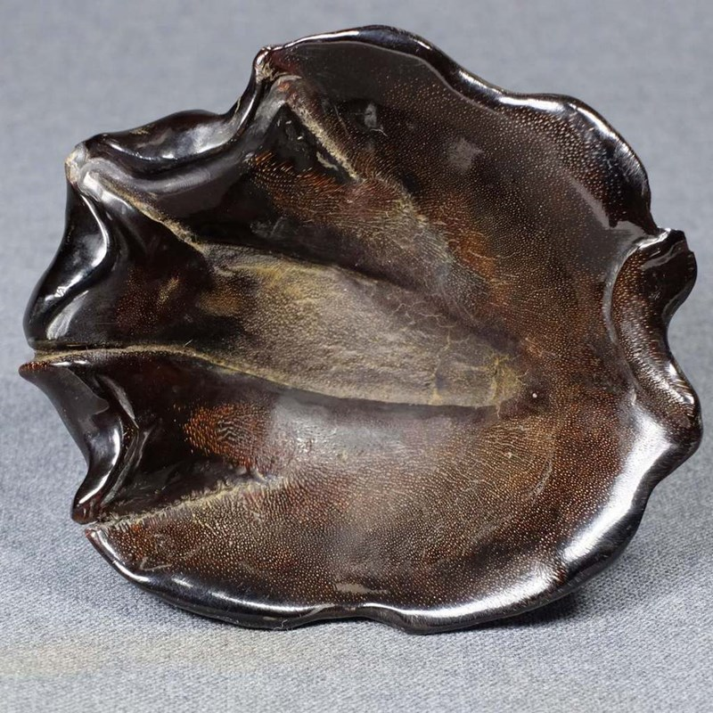 Extremely rare rhino horn brush washer. China, 18th century